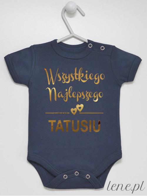 Body niemowlęce Wszystkiego Najlepszego Tatusiu Złoty