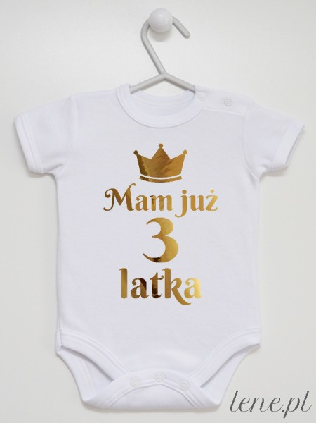 Mam Już 3 Latka - body niemowlęce
