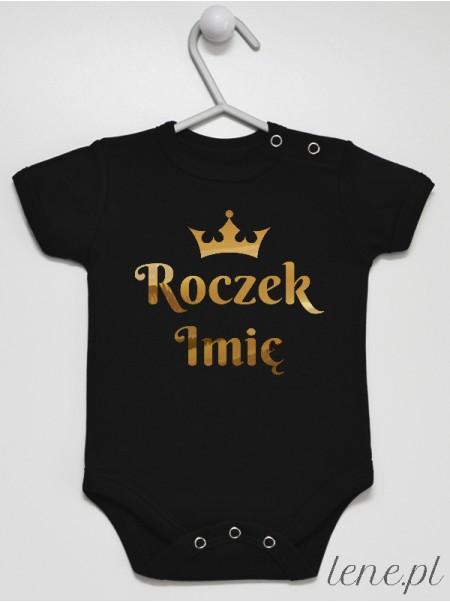 Roczek Z Imieniem Złoty - body niemowlęce