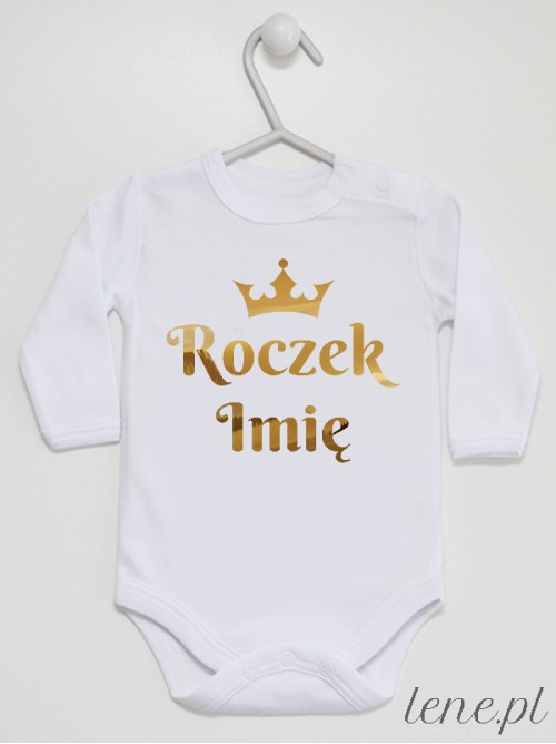 Body niemowlęce Roczek Z Imieniem Złoty