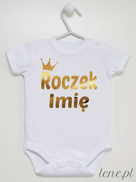 Roczek Z Koroną I Imieniem - body niemowlęce