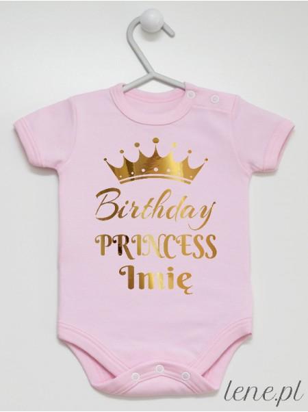 Birthday Princess Z Imieniem - body niemowlęce