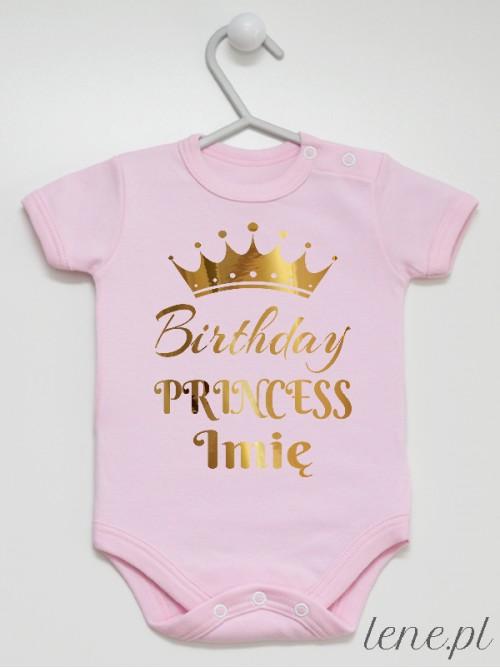 Body niemowlęce Birthday Princess Z Imieniem
