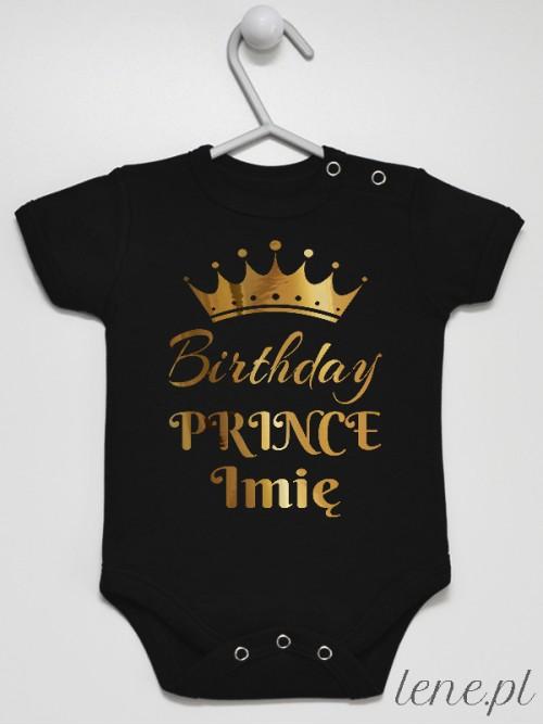 Body niemowlęce Birthday Prince Z Imieniem