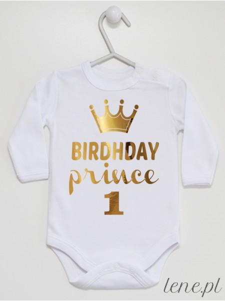 Birthday Prince na Pierwsze Urodziny - body dla chłopca