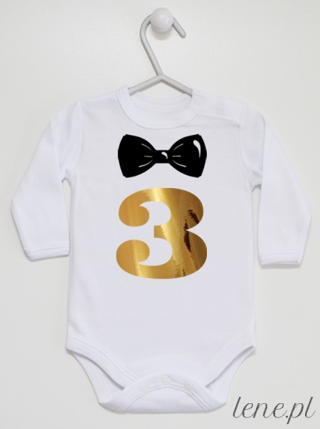 Trójka Z Muszką - body niemowlęce