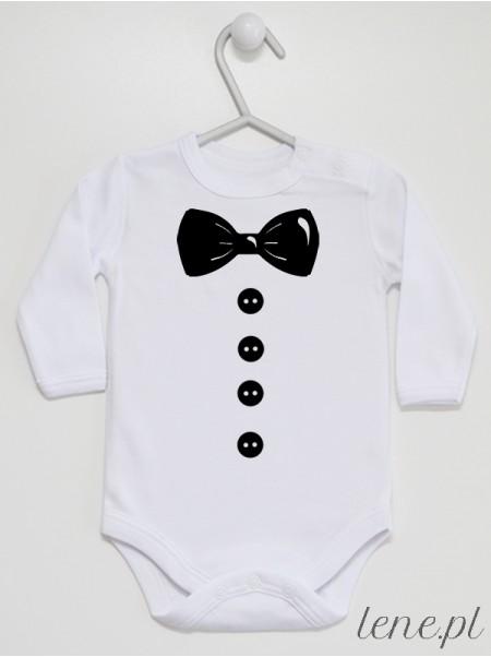 Muszka Z Guzikami Czarna - body niemowlęce