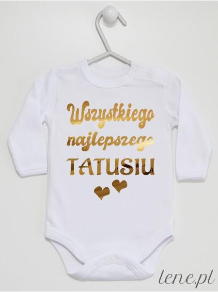 Wszystkiego Najlepszego Tatusiu Złote Serca - body niemowlęce