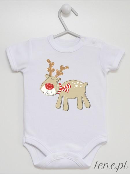 Renifer Boże Narodzenie - body niemowlęce