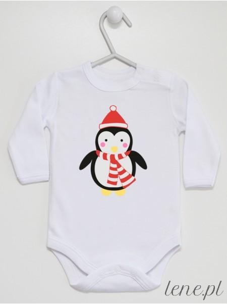 Pingwinek W Czapce - body niemowlęce