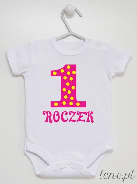 Jedynka W Groszki 01 - body niemowlęce