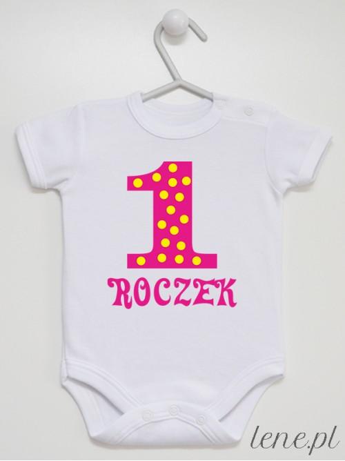 Body niemowlęce Jedynka W Groszki 01