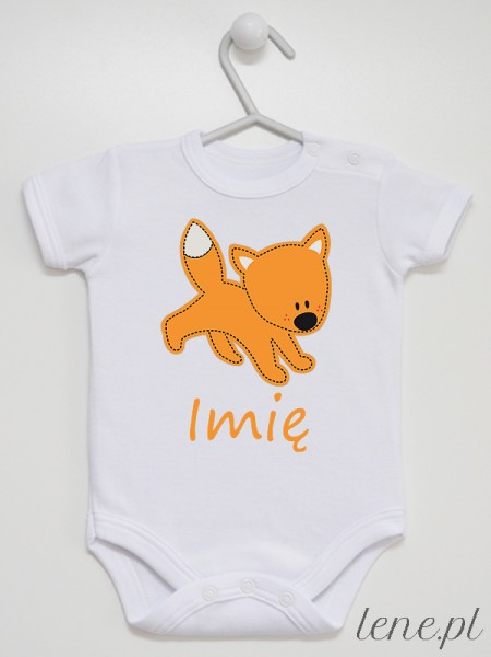 Lisek 02 + Imię - body niemowlęce