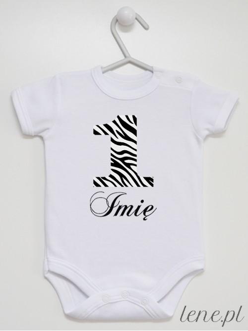 Body niemowlęce Jedynka Zeberka + Imię