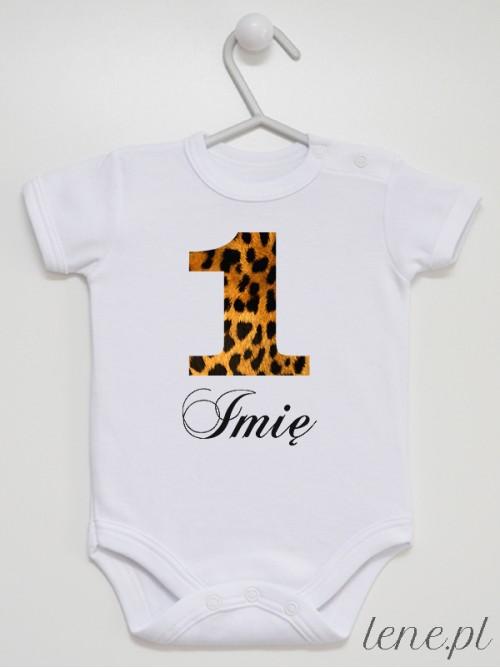 Body niemowlęce Jedynka Panterka + Imię