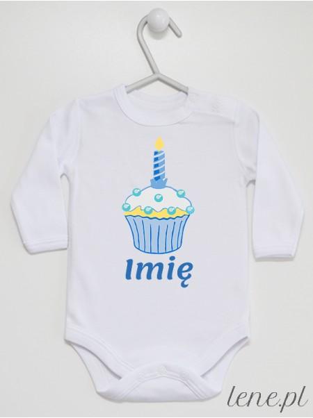 Muffinka Roczek + Imię 06 - body niemowlęce