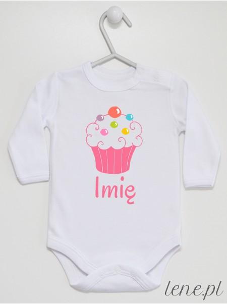 Muffinka + Imię 01 - body niemowlęce