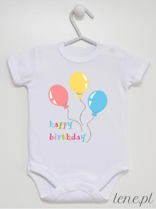 Body niemowlęce Baloniki Happy Birthday