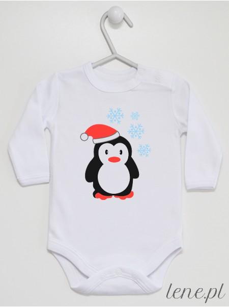 Zimowy Pingwinek - body dla niemowlaka, noworodka na zimę