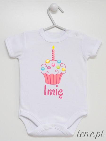 Muffinka + Imię 02 - body niemowlęce