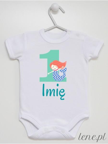 Jedynka Z Syrenką + Imię - body niemowlęce