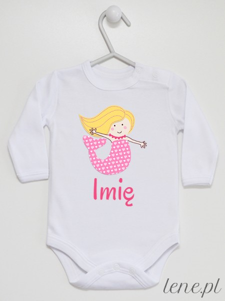 Syrenka + Imię 01 - body niemowlęce