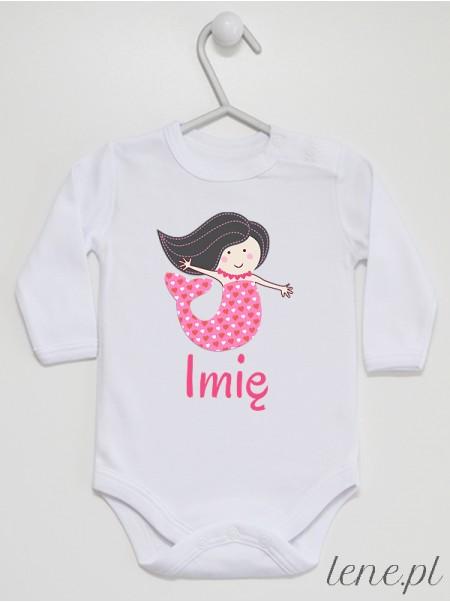 Syrenka + Imię 03 - body niemowlęce