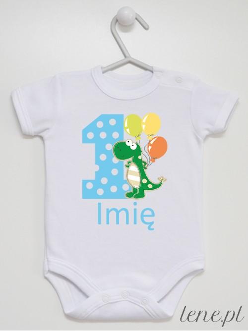 Body niemowlęce Jedynka Ze Smokiem + Imię 02