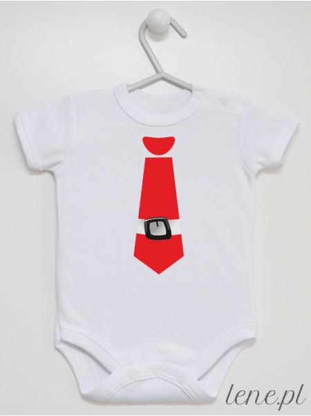 Krawat Mikołajkowy - body niemowlęce