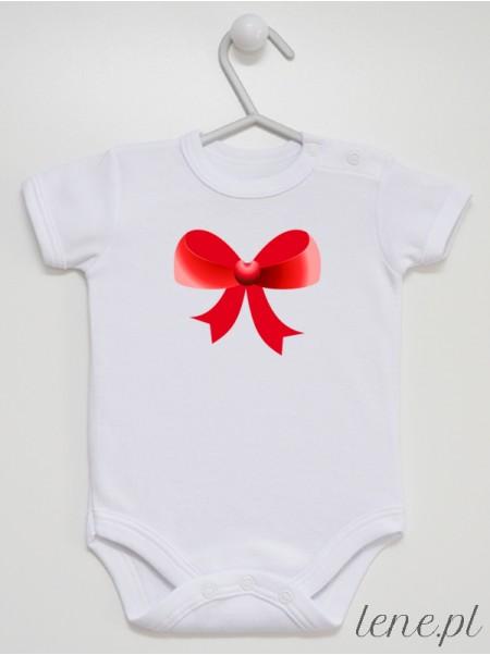 Kokardka Czerwona 02 - body niemowlęce
