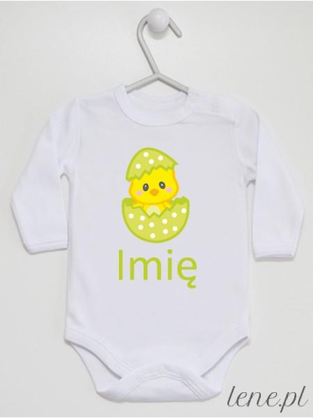 Kurczaczek W Skorupce + Imię 03 - body niemowlęce