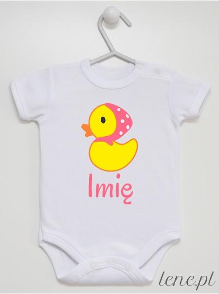 Kaczuszka + Imię - body niemowlęce