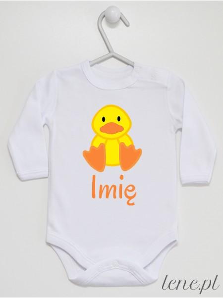 Kaczorek + Imię - body niemowlęce