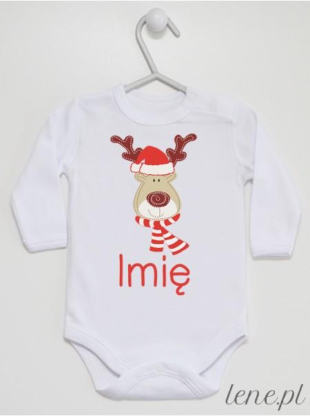 Reniferek + Twoje Imię - body niemowlęce