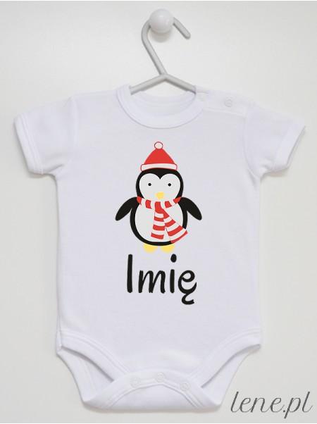 Pingwinek + Imię - body niemowlęce