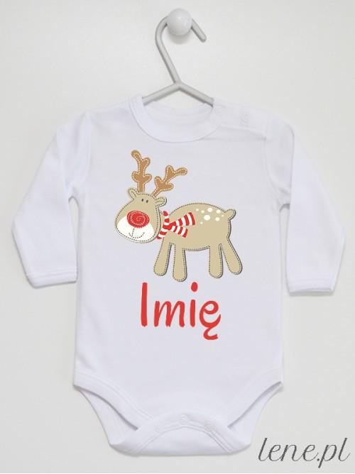 Body niemowlęce Wesoły Reniferek + Twoje Imię