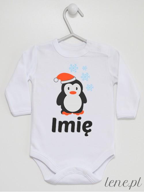 Body niemowlęce Pingwinek W Czapeczce + Imię