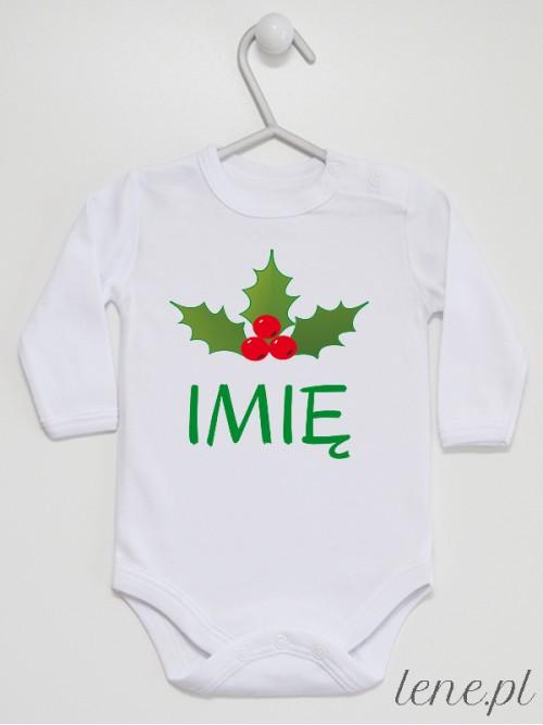 Body niemowlęce Ostrokrzew Świąteczny + Imię