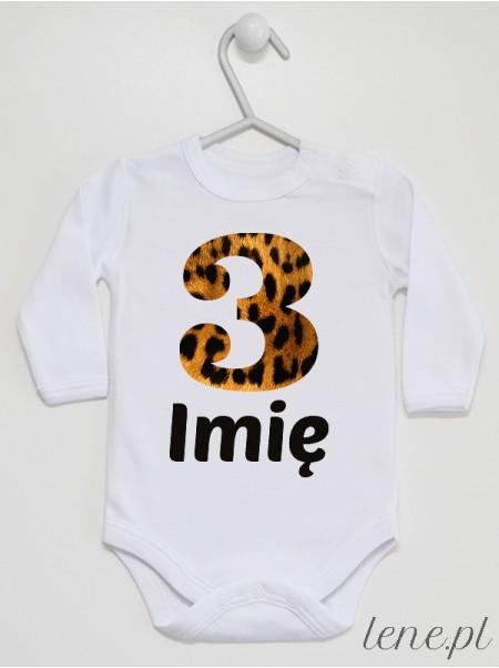Trójka Panterka Z Imieniem - body niemowlęce