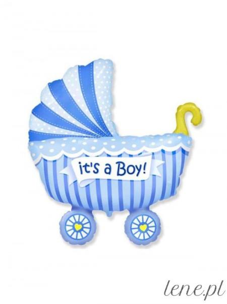 Wózek dla Chłopca - balon foliowy