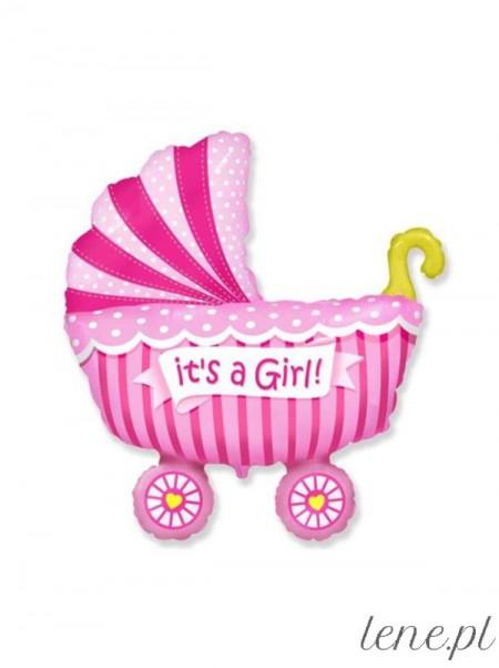Wózek dla Dziewczynki - balon foliowy