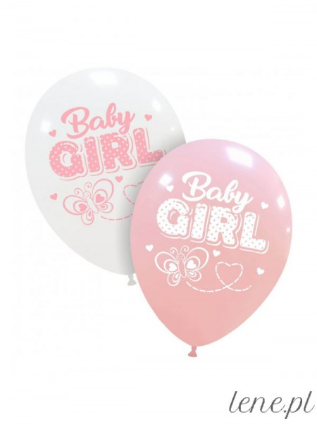 Baby Girl - balon lateksowy