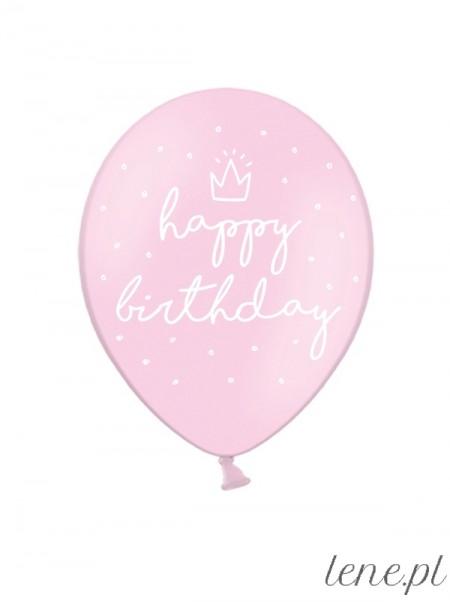 Happy Birthday Korona - balon lateksowy