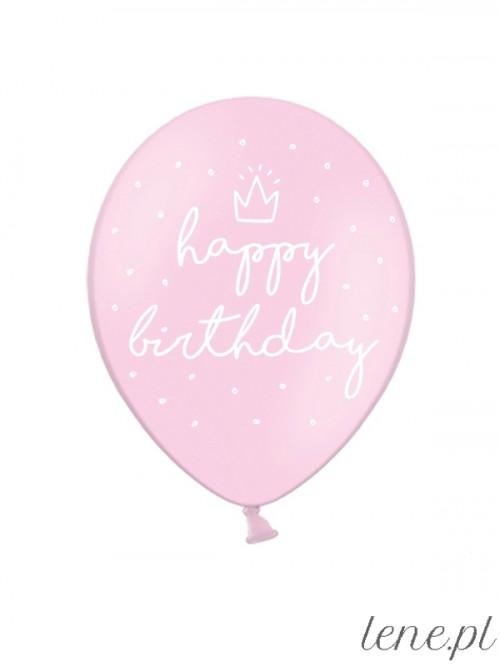 Balon lateksowy Happy Birthday Korona