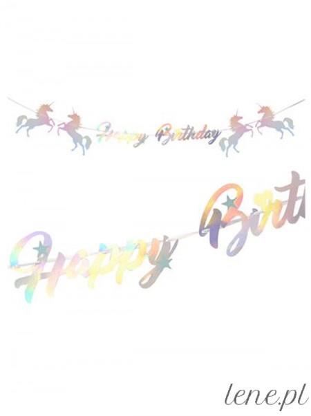 Jednorożec Happy Birthday - baner urodzinowy