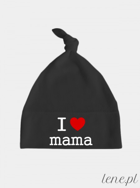 Ja Kocham Mamę - czapka dla noworodka, niemowlaka