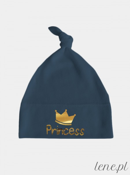 Princess Nadruk Złoty- czapeczka