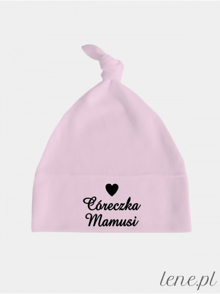 Córeczka Mamusi - czapeczka dla niemowląt z nadrukiem