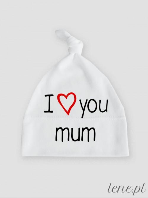 Czapeczka niemowlęca I Love You Mum