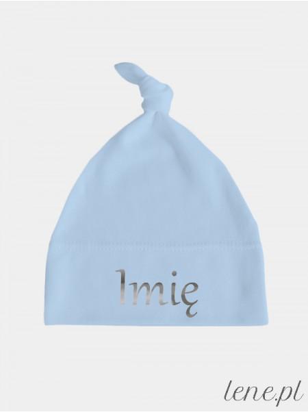 Imię Maluszka Nadruk Srebrny - czapeczka personalizowana